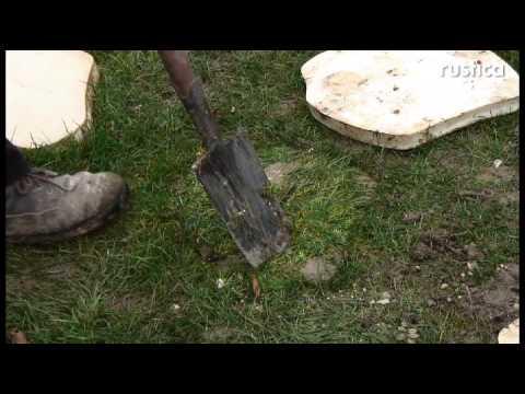 Cr er une all e en pas japonais dans la pelouse youtube - Allee de jardin facile ...