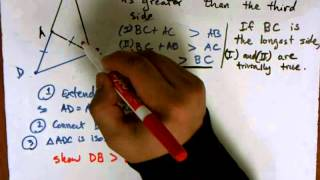 Proof of Triangle Inequality Theorem - YouTube