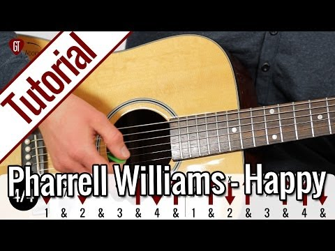 Pharrell Williams - Happy | Gitarren Tutorial Deutsch