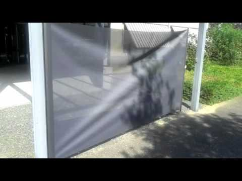 Oprolbaar windscherm