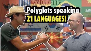 unique encounter between 2 polyglots in 21 languages