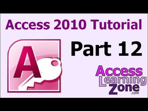 Microsoft Access 2010 Tutorial Part 12 of 12 - Review