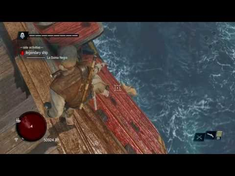 How to EASILY Defeat Legendary Ship La Dama Negra with only pistol no upgrades - AC4 Black Flag