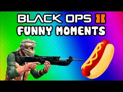 Black Ops 2 Funny Random Moments - Hot Dog, Mic Farts, Emblem Trolling, XBL Messages (Funtage)