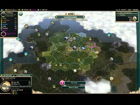 [1] Civilization V: Brave New World - Shoshoni on king (Libraries and guilds)