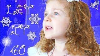 LET IT GO (From Disney's Frozen) LITTLE 3 YEAR OLD SINGS