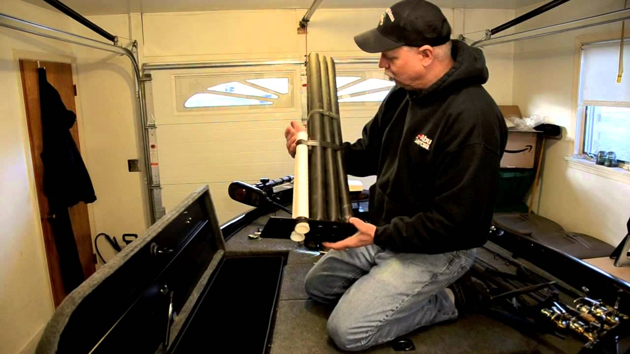 How To Modify Rod Storage On A Bass Boat Youtube