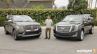 Full-Size American Luxury SUV Comparison: 2018 Lincoln Navigator vs 2018 Cadillac Escalade