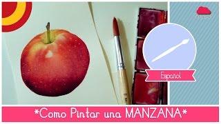 Curso De Acuarela: Como Pintar Una Manzana (facil Para