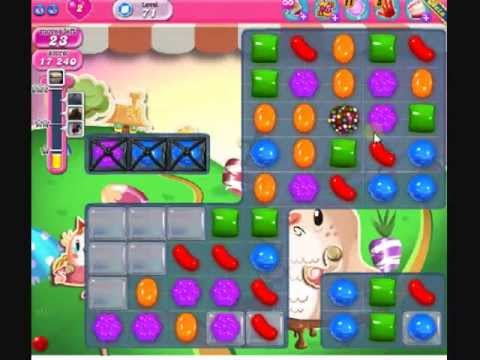 How to beat Candy Crush Saga Level 71 - 2 Stars - No Boosters - 60