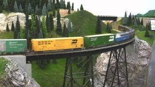 BN HO Scale Layout Model Railroad Train Video HD JAN