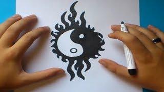Como Dibujar Un Simbolo Yin Yang Paso A Paso How To Draw