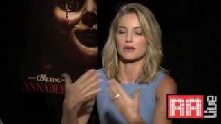 Annabelle Cast Horror Movie Interview Working With Demonic