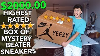 """Unboxing A $2000.00 HIGHEST RATED Box Of Mystery """"Beater"""" Sneakers"""