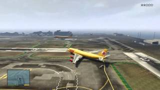 GTA V: How To Get To The Airport & Fly A JUMBO JET