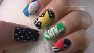 *SHINee* Korean Pop Inspired Nail Art Tutorial / Arte De