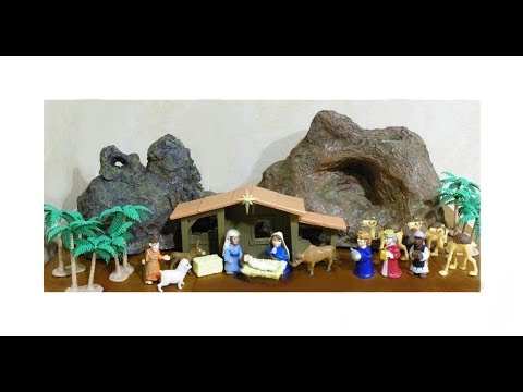Como Hacer una Montaña Decorativa para Maquetas, Decorados o Portal de Belén Navideño,  ( Parte I)