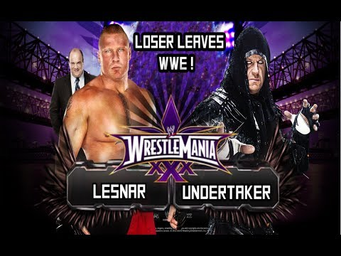WWE Wrestlemania 30 - The Undertaker Vs. Brock Lesnar |