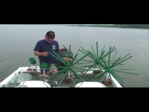 Porcupine fish attractor crappie beds youtube for Porcupine fish attractor