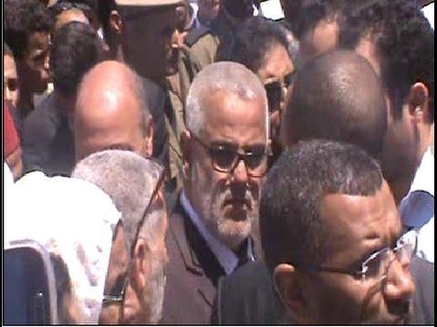 بنكيران و الداودي و بنخلدون في جنازة الحسناوي