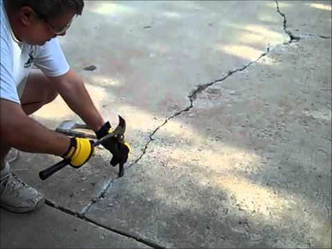how to repair cracked concrete driveway