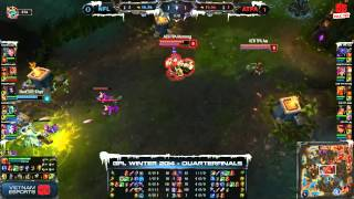[GPL 2014 Mùa Đông] [Tứ Kết] [Game 2] Azubu Taipei Assassins vs Neolution Full Louis [04.12.2013]