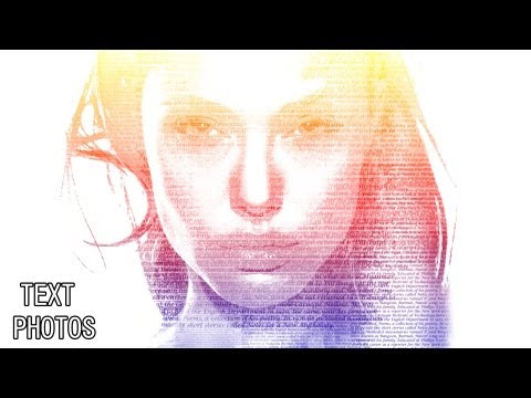 Photoshop cs6 tutorial: making text photos with Angelina Jolie`s picture