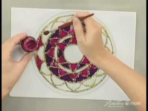 Passo a Passo  Pintura em Vidro Mandala Pinctore Tigre