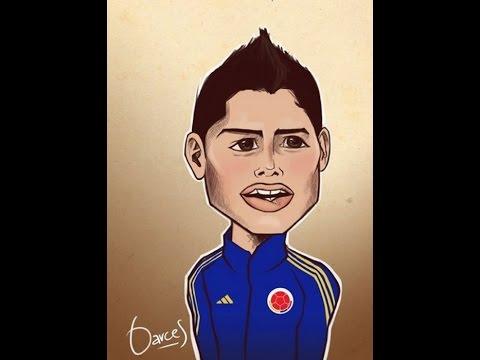 JAMES RODRIGUEZ REAL MADRID  Rodriguez football cartoon press conference