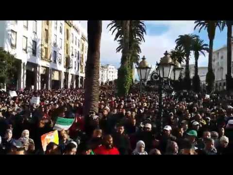 الآلاف يشاركون في مسيرة حاشدة في الرباط