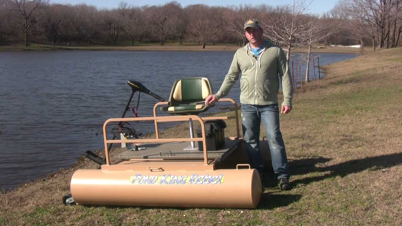 The best mini pontoon boat for fishing youtube for Best fishing pontoon boat