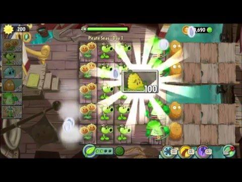 Hoa Quả Nổi Giận 2: Plants vs Zombies 2 - Pirate Seas Day 1