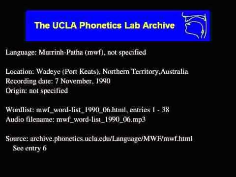 Murrinh-patha audio: mwf_word-list_1990_06