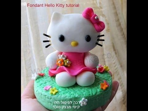 How to do fondant Hello Kitty - Fondant Kitty tutorial by Annushka