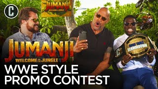 The Rock Judges Kevin Hart & Jack Black in a WWE Jumanji Promo Contest