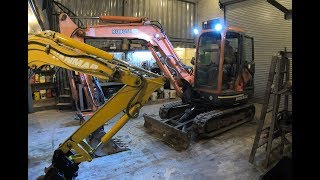 Working on the new Kubota excavator
