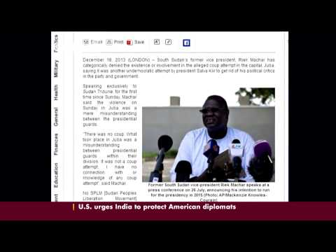 Former S.Sudan VP denies coup involvement