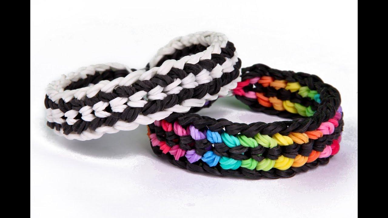 Rainbow loom bracelets double x