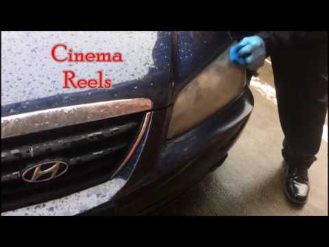 Easily Clean Headlights At Home | How to Fix Foggy  Car Headlights in five minutes |Cinema Reels