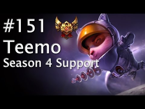 Lets Play League of Legends #151 Teemo - The Season 4 Support [HD] [RANKED]