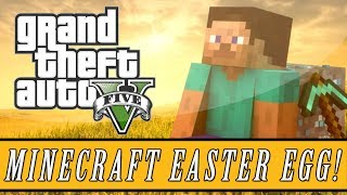 "Grand Theft Auto 5 Minecraft ""THOR"" Easter Egg! (GTA 5"