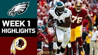 Eagles vs. Redskins   NFL Week 1 Game Highlights