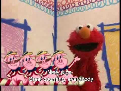 muppet Elmo count the barbershop quartet pigs - YouTube