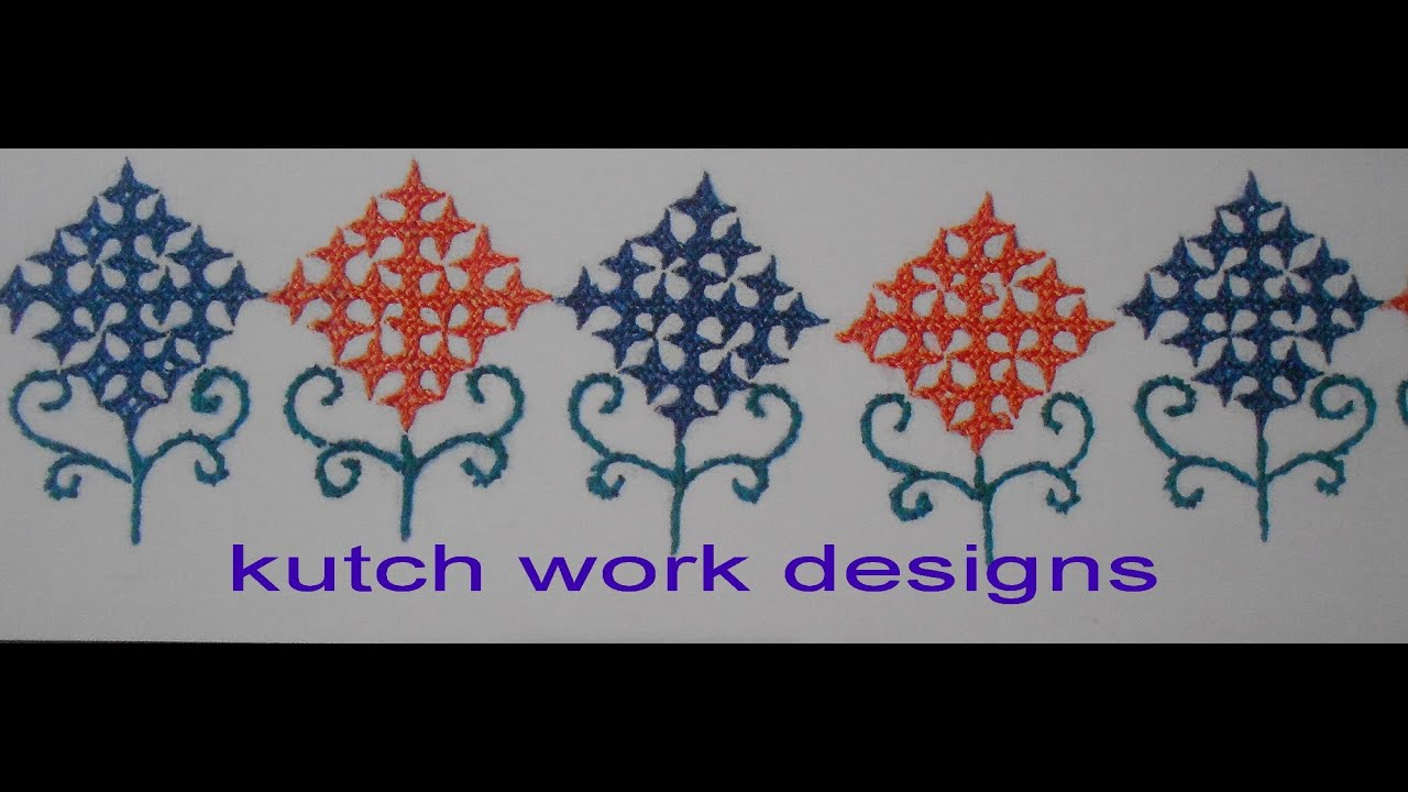 Kutch work designs youtube