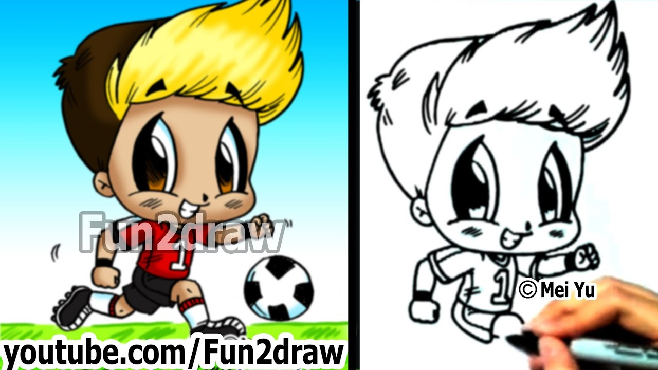 How to draw chibi how to draw a soccer player drawing for Fun things to draw for girls
