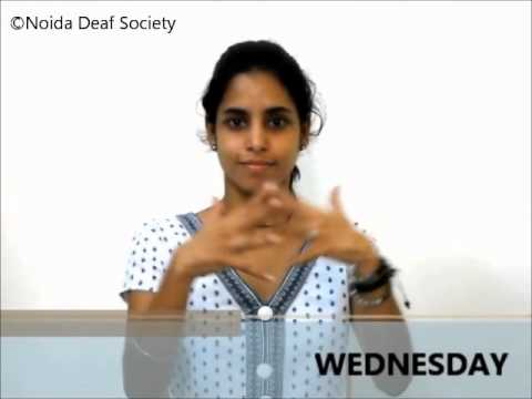 Learn Indian Sign Language - Part 12 (Week)