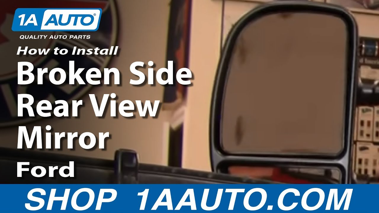 How to install replace broken side rear view mirror 99 07 for 05 f150 door panel removal