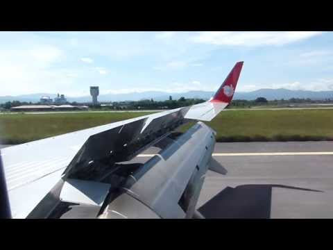 Malindo Air B739ER landing and taxi at Kota Kinabalu airport