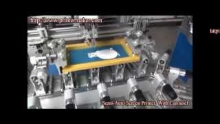 [Semi-auto Screen Printing Machine with Carousel] Video