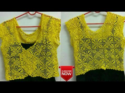 How To Make A DIY Summer  Shrug / Cardigan From Crochet coaster!!! (गर्मी मे पहने वाला जैकेट)